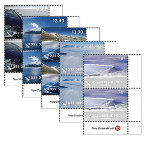2012 Ross Dependency Definitives Set of Logo Blocks