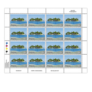 Tokelau Scenic Definitives 2012 25c Stamp Sheet