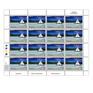 Tokelau Scenic Definitives 2012 45c Stamp Sheet