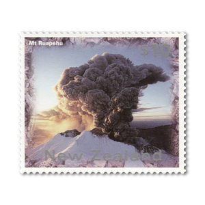 1997 Mount Ruapehu Definitive $10 Stamp