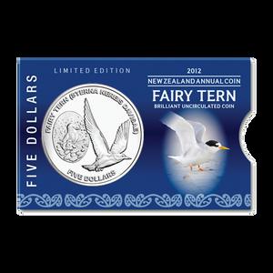 2012 New Zealand Annual Coin: Fairy Tern Brilliant Uncirculated Coin