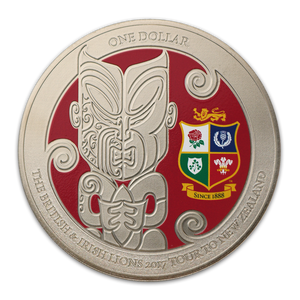 The British & Irish Lions 2017 Tour to New Zealand Brilliant Uncirculated Coin
