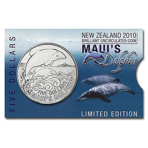 2010 Maui's Dolphin Brilliant Uncirculated Coin