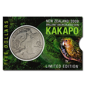 2009 Kakapo Brilliant Uncirculated Coin