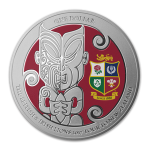 The British & Irish Lions 2017 Tour to New Zealand Silver Proof Coin