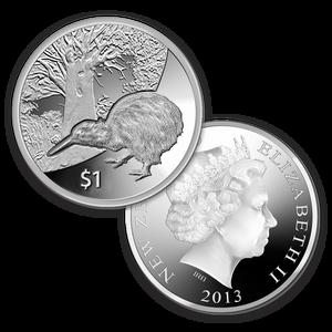 2013 Kiwi Treasures Silver Proof Coin