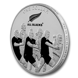 2011 All Blacks Silver Proof Coin: the haka