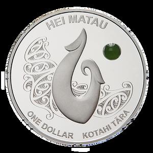 2012 Maori Art - Hei Matau Silver Proof Coin