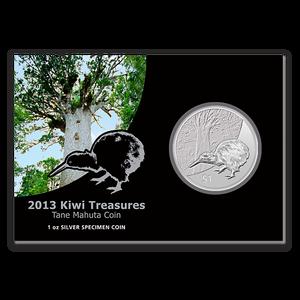 2013 Kiwi Treasures Silver Specimen Coin