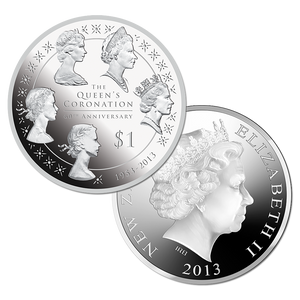 Queen's Coronation 60th Anniversary Silver Proof Coin