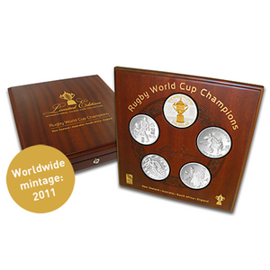 Rugby World Cup Champions Silver Proof Coin Set