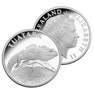 2007 New Zealand Tuatara Silver Proof Coin