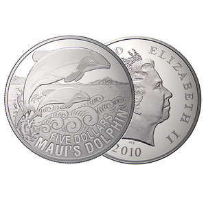 2010 Maui's Dolphin Silver Proof Coin