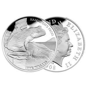 2008 Hamilton's Frog Silver Proof Coin