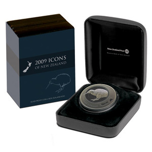 2009 Icons of New Zealand Silver Proof Coin