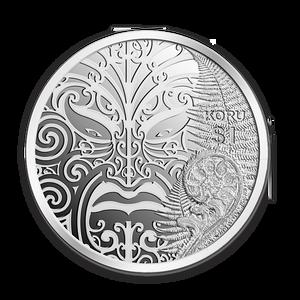 2013 Maori Art - Koru Silver Proof Coin