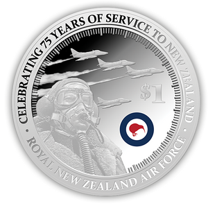 75 Years of the RNZAF Silver Proof Coin