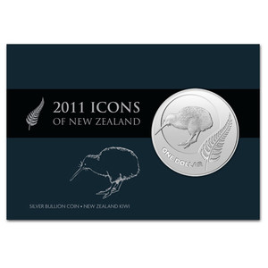 2011 Icons of New Zealand Silver Bullion Coin