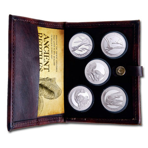 2010 Ancient Reptiles Silver Bullion Coin Set