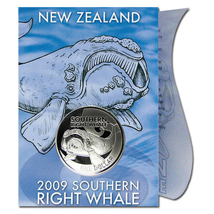 2009 Southern Right Whale Silver Bullion Coin