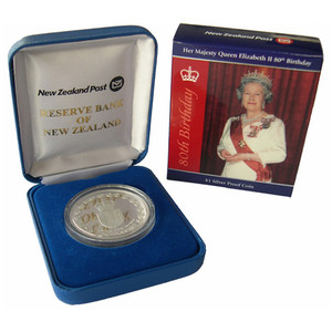 2006 Queen Elizabeth II 80th Birthday Silver Proof Coin