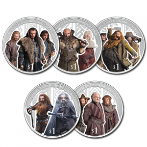 The Hobbit: The Desolation of Smaug Silver Coin Set