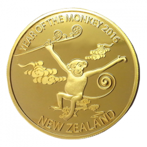 2016 Year of the Monkey Gold Plated Medallion
