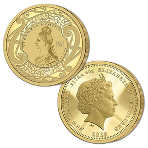 2019 New Zealand Sovereign - Queen Victoria 200 Years Five Sovereign Gold Proof Medallic Coin