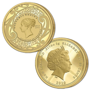 2019 New Zealand Sovereign - Queen Victoria 200 Years Quarter Sovereign Gold Proof Flip Coin