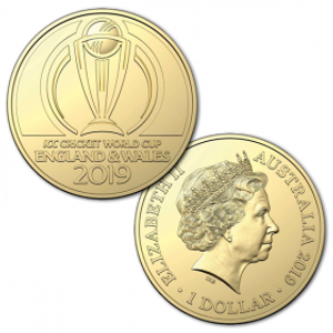 ICC Cricket World Cup 2019 $1 AL-Br Uncirculated Coin