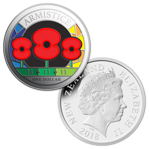 Armistice 1918 - 2018 Joint Issue Silver Proof 3-Poppy Coin Set