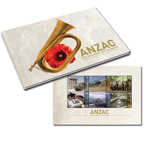 ANZAC 2013 - New Zealanders Serving Abroad Miniature Sheet Booklet