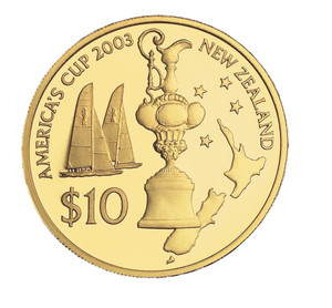 2003 America's Cup Gold Plated Coin