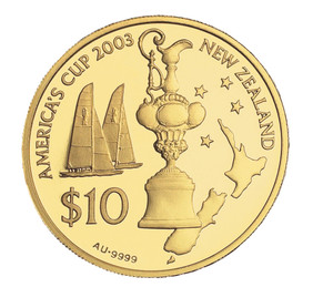 2003 America's Cup Gold Proof Coin