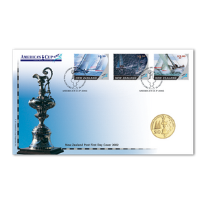 2003 America's Cup Gold Plated Numismatic Cover
