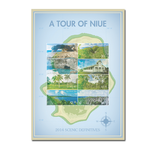 2014 Scenic Definitives - A Tour of Niue Sheetlet of Cancelled Stamps