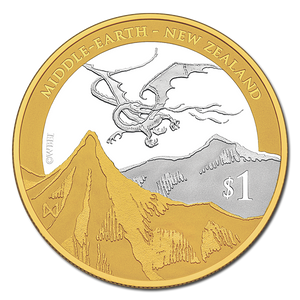 The Hobbit: The Desolation of Smaug Silver Coin with Gold Plating
