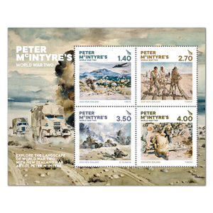 2020 Peter McIntyre's World War Two Cancelled Miniature Sheet