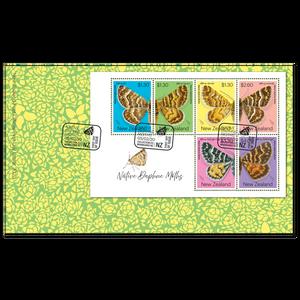 2020 Native Daphne Moths Miniature Sheet First Day Cover