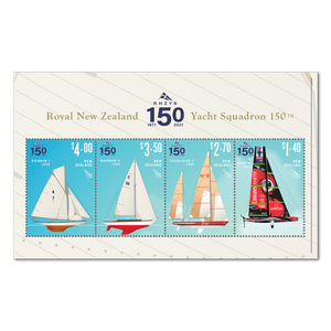 2021 RNZYS 150 Used Miniature Sheet