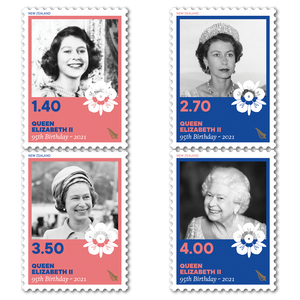 2021 Queen Elizabeth II Ninety-Fifth Birthday Set of Used Stamps