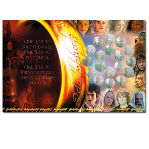 The Lord of the Rings Eighteen 50c Uncirculated Coins