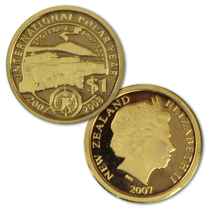 2007 Scott Base 1957 - 2007 Mini Gold Proof Coin