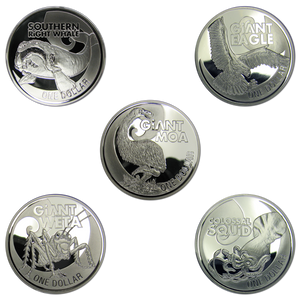 2009 Giants of New Zealand Silver Bullion Coin Set
