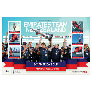America's Cup 2021 Emirates Team New Zealand stamps