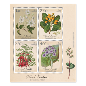 2021 Sarah Featon - Botanical Artist Used Miniature Sheet