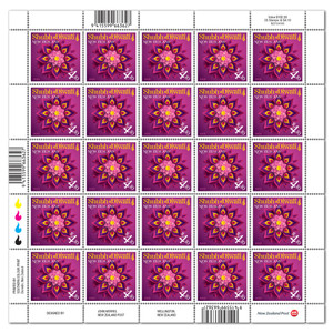 Shubh Diwali sheet of 25 x $4.10 gummed stamps | NZ Post Collectables