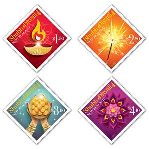 2021 Shubh Diwali Set of Used Stamps