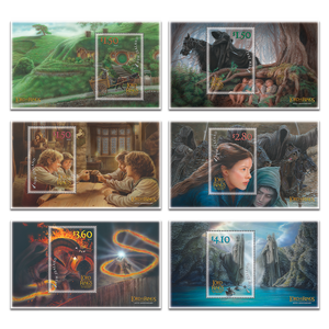 2021 The Lord of the Rings: The Fellowship of the Ring 20th Anniversary Set of Cancelled Miniature Sheets