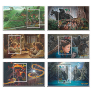 2021 The Lord of the Rings: The Fellowship of the Ring 20th Anniversary Set of Used Miniature Sheets